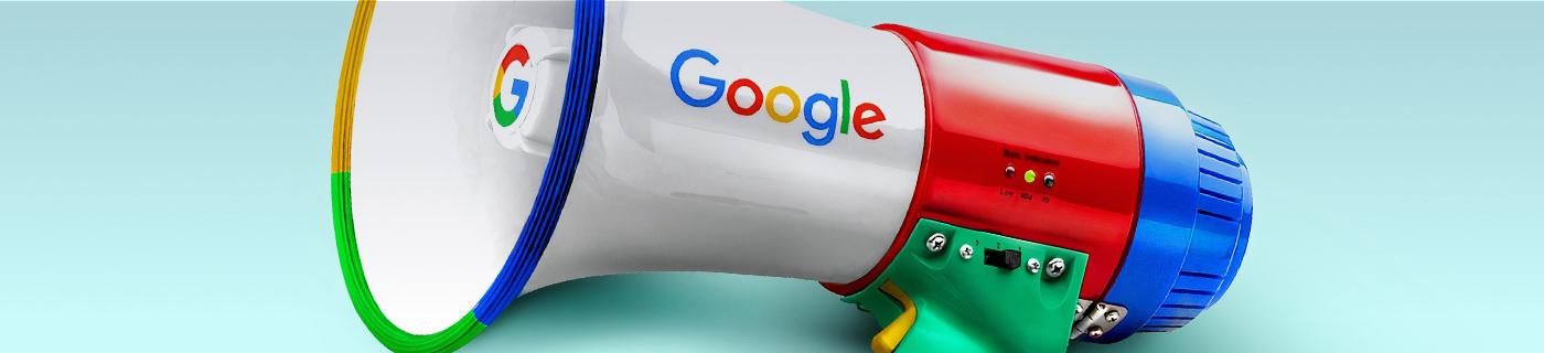 Suchmaschinenmarketing-Header Google Megafon
